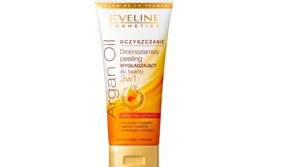 Drobnoziarnisty peeling wygładzający do twarzy 3 w 1 Argan Oil Eveline Cosmetics LIFESTYLE, Uroda - Seria Argan Oil to innowacyjny program przeciwzmarszczkowy opracowany w laboratorium Eveline Cosmetics zapewniający spektakularny efekt odmłodzenia skóry.