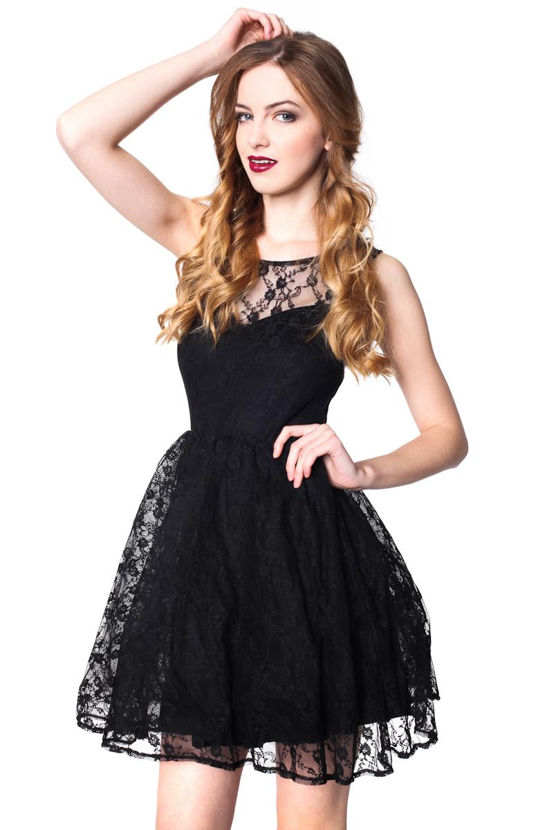 czarna koronkowa sukienka 1