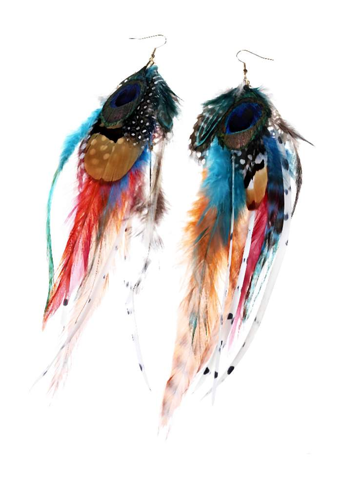 Claires_Multi-coloured feather earrings _12, 14.99 Euro, 26.90 CHF, 59.99 PLN-007-2014-06-02 _ 17_43_18-80
