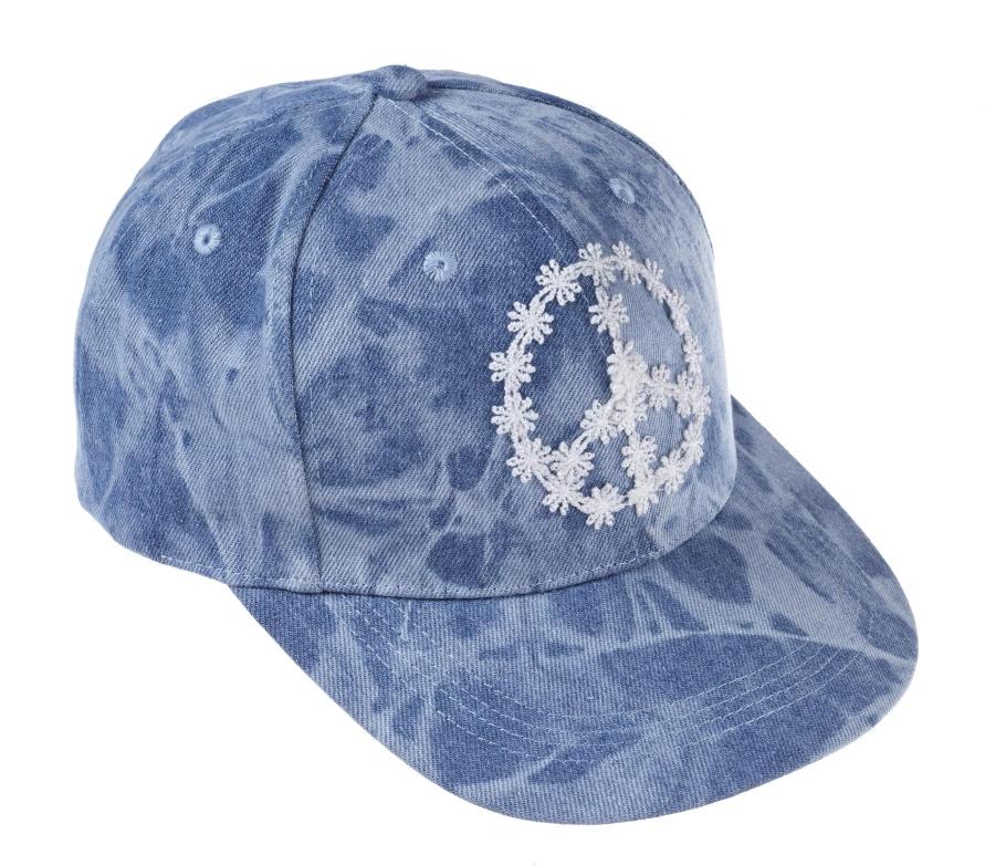 Denim tie dye peace cap _12, 14.99 Euro, 26.90 CHF, 59.90 PLN