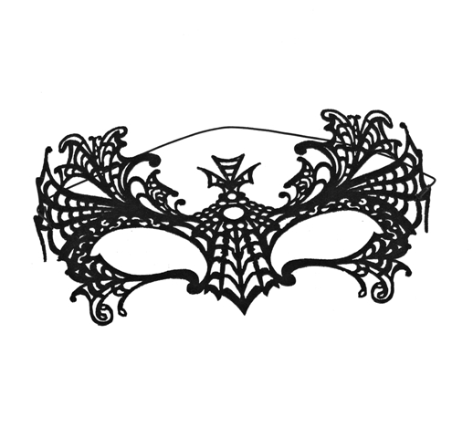 CLAIRES_AW14_Black Spiderweb Mask 5.50GBP 6,99EUR 27,90PLN 11,90CHF