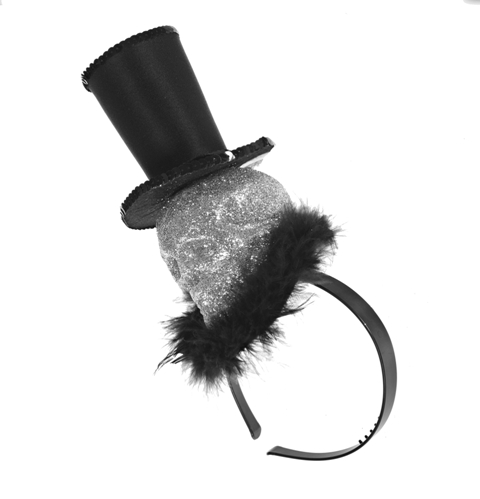 CLAIRES_AW14_Skull Top Hat Headband 7.00GBP 8,99EUR 35,90PLN 14,90CHF