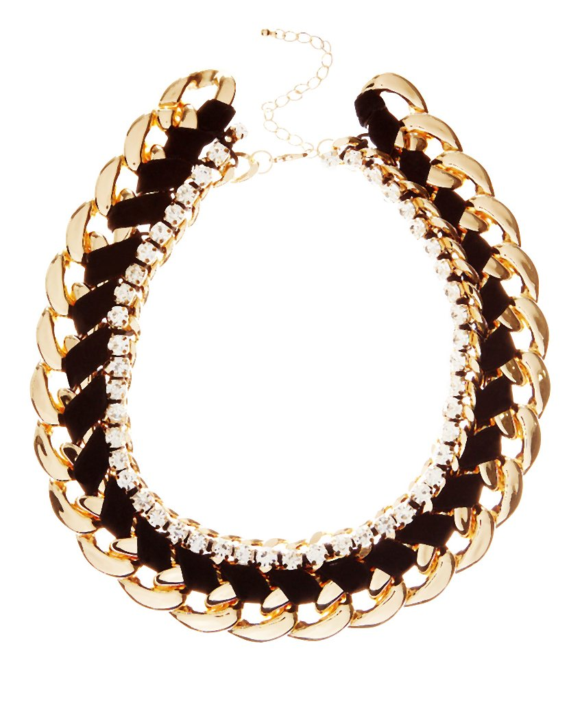 Black Velvet Diamante Trim Chunky Chain _12.99-002-2014-11-20 _ 06_14_32-80