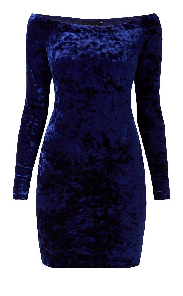 Navy Velvet Bardot Neck Long Sleeve Bodycon Dress _17.00-004-2014-11-20 _ 06_14_32-80