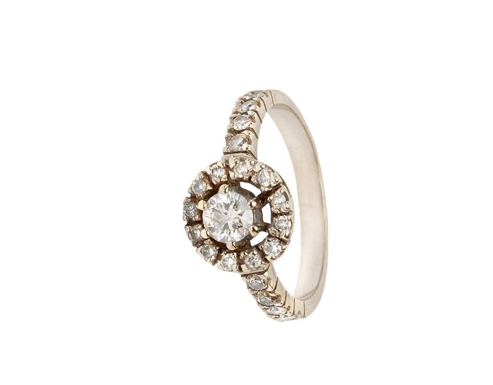 60. pierścionek srebrny