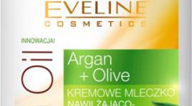 Kremowe mleczko nawilżająco-odżywcze ARGAN & OLIVE Eveline Cosmetics LIFESTYLE, Uroda - Przeznaczony do skóry wrażliwej, skłonnej do alergii, suchej i odwodnionej.