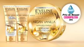Nagroda dla Eveline Cosmetics w plebiscycie Cosmopolitan PRIX DE BEAUTÉ 2015 LIFESTYLE, Uroda - Seria Argan Vanilla SPA Professional otrzymała międzynarodowy tytuł PRIX DE BEAUTÉ 2015 magazynu Cosmopolitan, zwyciężając w kategorii popularne kosmetyki do pielęgnacji ciała.