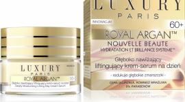 LUXURY PARIS Głęboko nawilżający liftingujący krem-serum na dzień 60+ LIFESTYLE, Uroda - Rewolucyjny program LUXURY Paris Nouvelle Beauté™ został opracowany z myślą profesjonalnej pielęgnacji skóry dojrzałej, w oparciu o rewitalizujące i odżywcze właściwości olejku arganowego.
