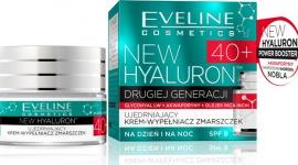 Eveline Cosmetics NEW HYALURON™ Ujędrniający Krem-Wypełniacz Zmarszczek 40+ LIFESTYLE, Uroda - NEW HYALURON to pionierska terapia aktywująca mechanizmy młodości w głębokich warstwach skóry. Przełomowa technologia TURBO LIFTING AGE DEFENSE™ na bazie DRUGIEJ GENERACJI KWASU HIALURONOWEGO i AKWAPORYN zapewnia bezprecedensową skuteczność w redukcji zmarszczek.