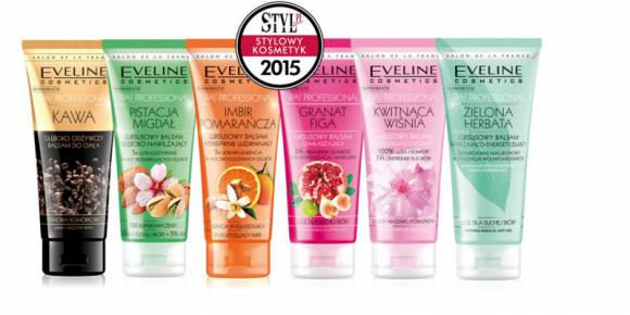 """Eveline Cosmetics otrzymał nagrodę """"Stylowy Kosmetyk 2015"""" LIFESTYLE, Uroda - Luksusowe balsamy do ciała Spa! Professional Eveline Cosmetics otrzymały nagrodę """"Stylowy Kosmetyk 2015"""" serwisu Styl.pl."""