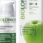 Krem regenerujący do twarzy na noc z serii Biolonica Apple Stem Cells 30+