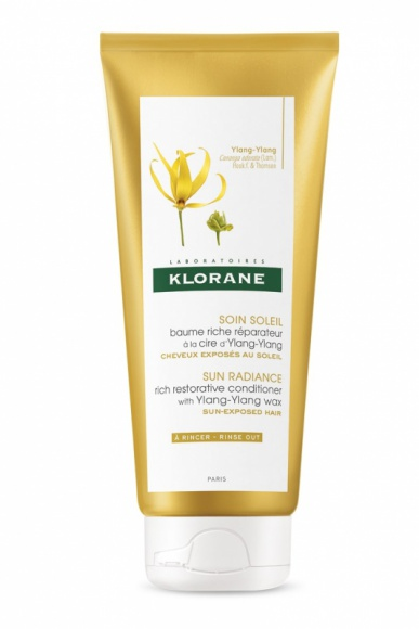 Klorane regenerujący balsam na bazie wosku Ylang-Ylang - słońce, sól, chlor LIFESTYLE, Uroda - Regenerujący balsam na bazie wosku Ylang-Ylang