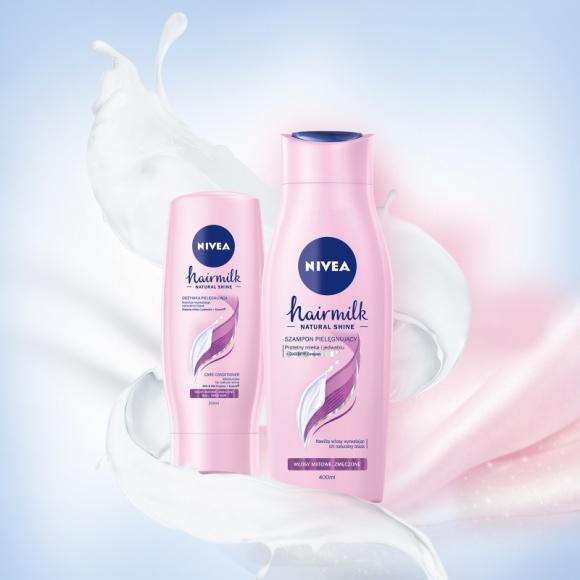 Uwolnij blask z nową wygładzającą mgiełką NIVEA Hairmilk Natural Shine LIFESTYLE, Uroda - Psst… wstrząśnij, spryskaj podsuszone włosy i ciesz się naturalnym blaskiem z nową wygładzającą mgiełką NIVEA Hairmilk Natural Shine.