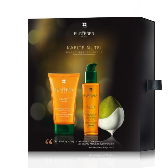 Rene Furterer zestaw prezentowy pielęgnacja włosów bardzo suchych LIFESTYLE, Uroda - W naszym świątecznym zestawie Karité Nutri Rene Furterer, znajdziesz szampon + odżywkę o kremowo żelowej konsystencji intensywnie odżywiającą włosy od środka.