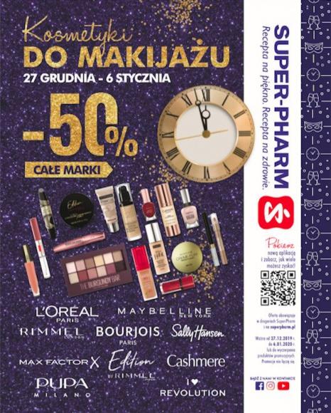 Promocja karnawałowa w Super-Pharm. Wykonaj makijaż w atrakcyjnej cenie LIFESTYLE, Uroda - Okres hucznych zabaw, bali i maskarad zbliża się wielkimi krokami, a Super-Pharm przygotował z tej okazji specjalną promocję. Od 27 grudnia do 6 stycznia w salonach stacjonarnych i na stronie superpharm.pl, kolorowe kosmetyki najsłynniejszych marek zostaną przecenione o 50%!
