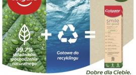 Nowa pasta Colgate Smile for Good w tubce nadającej się w pełni do recyclingu LIFESTYLE, Uroda - Colgate wprowadza innowacyjną, w pełni transparentną linię past do zębów Smile for Good, stworzoną w sposób odpowiedzialny wobec konsumentów i środowiska.