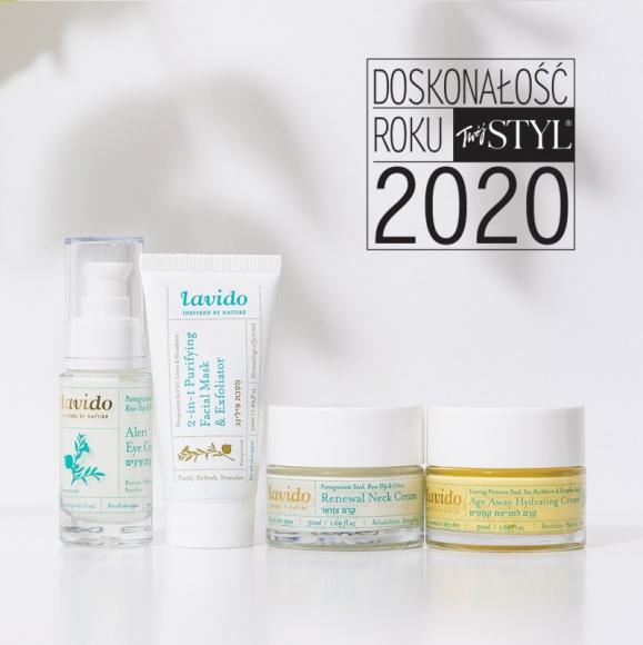 """KOSMETYKI LAVIDO Z TYTUŁEM """"DOSKONAŁOŚĆ ROKU 2020"""" MAGAZYNU TWÓJ STYL LIFESTYLE, Uroda - Naturalne kosmetyki Lavido, o udowodnionej klinicznie skuteczności działania, zostały uhonorowane prestiżową nagrodą Doskonałość Roku, przyznawaną przez magazyn Twój STYL, w kategorii """"Kosmetyki Naturalne i Organiczne – Pięlęgnacja twarzy""""."""